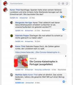 Facebook-Diskussion